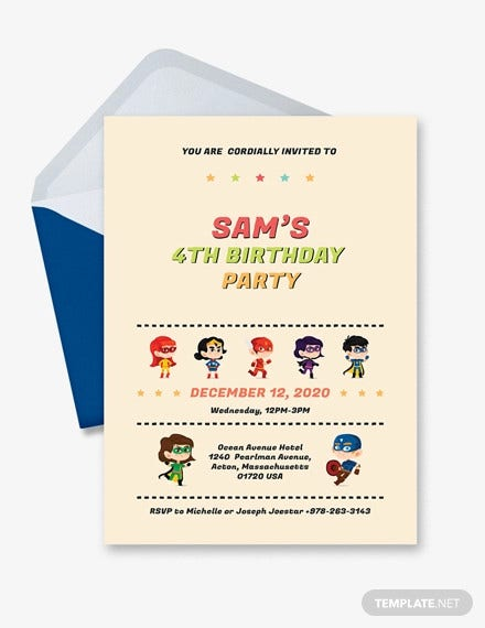 19 superhero birthday invitations free psd vector eps ai