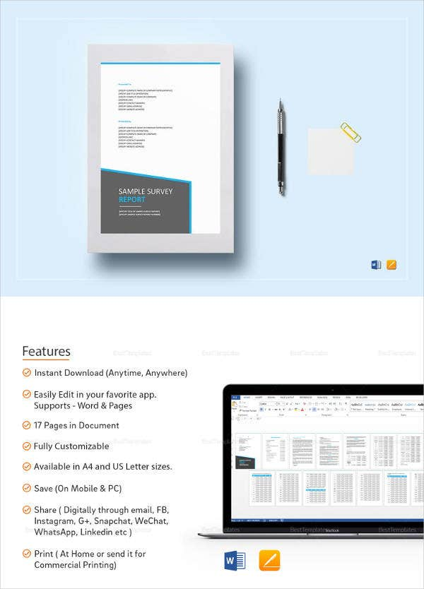 37 word survey templates free download free premium for Google doc survey template