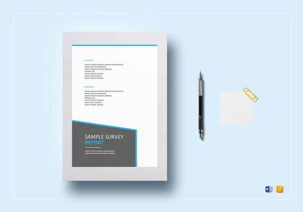 survey report template in google docs2