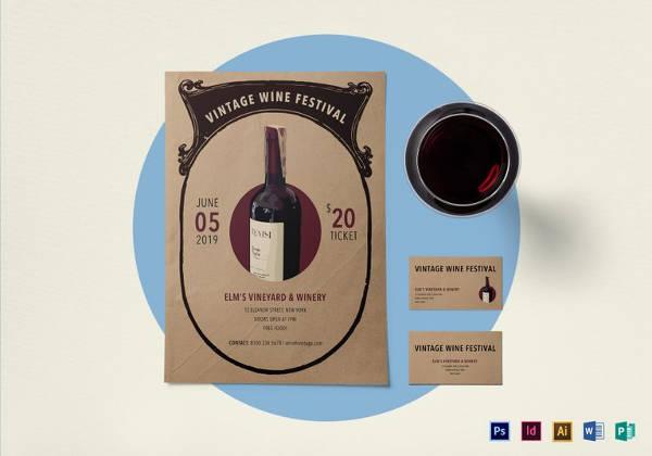 vintage wine festival flyer