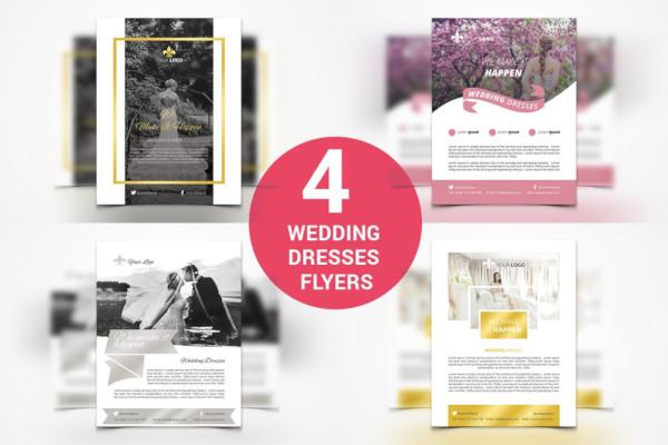 wedding dresses flyers