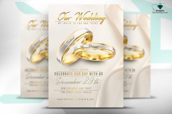 wedding flyer psd template1