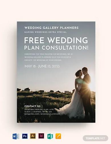 wedding flyer template2