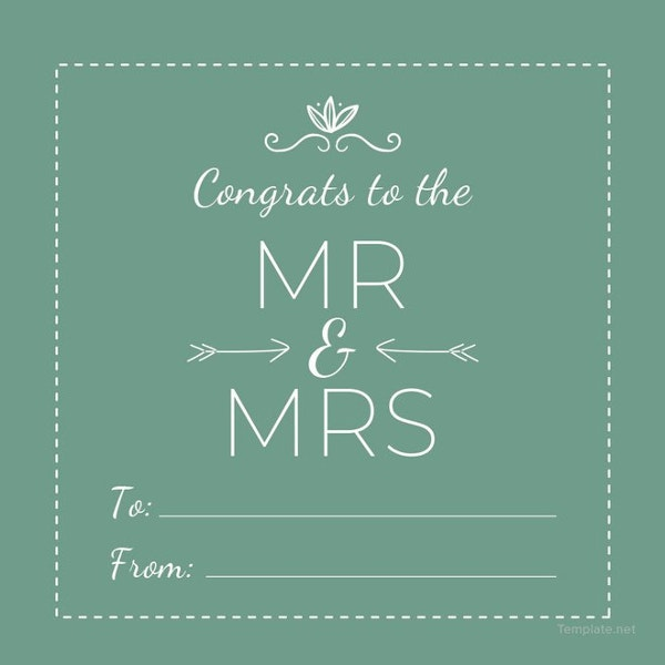 wedding gift label template to edit