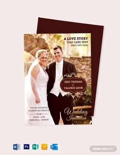 wedding invitation flyer template1