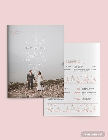 wedding planner bi fold brochure template