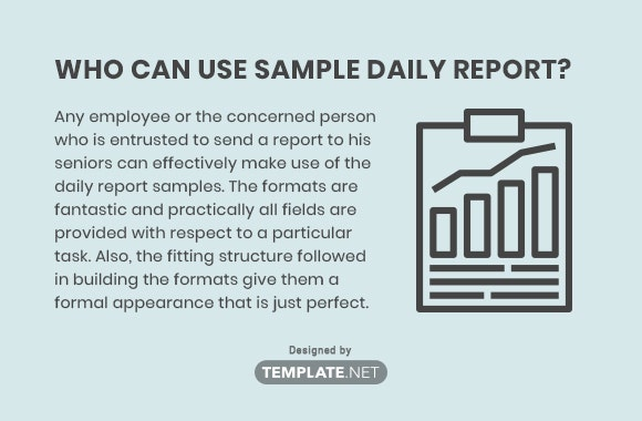 Who Can Use Sample Daily Report