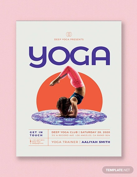 Yoga Flyer Template Free from images.template.net