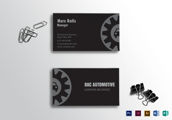 39 unique business card designs free premium templates automotive business card template in indesign reheart Gallery