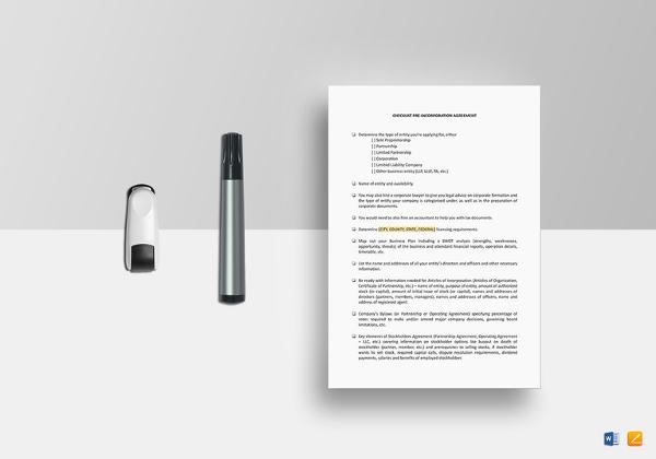 checklist-pre-incorporation