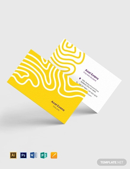 creative student business card