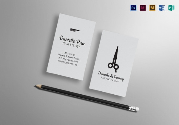 30 hair stylist business cards free download free premium templates hair stylist business card template in publisher psd reheart Image collections
