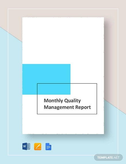 monthly quality report