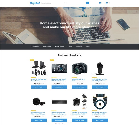 PHP ECommerce Themes Templates Free Premium Templates - Free ecommerce website templates shopping cart