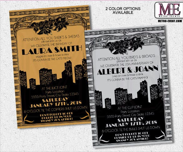40 Adult Birthday Invitation Templates Psd Ai Word