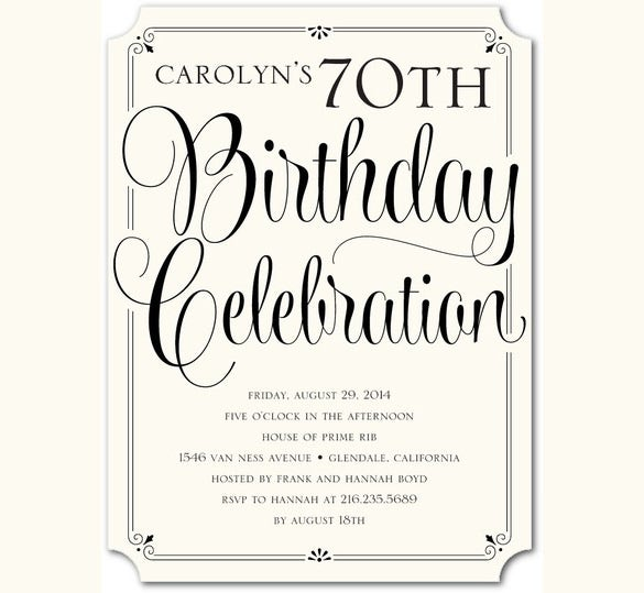 Adult Birthday Invitation Templates Free Sample Example - Birthday invitation designs for adults