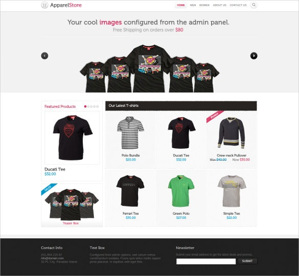 apparel store magento php ecommerce theme