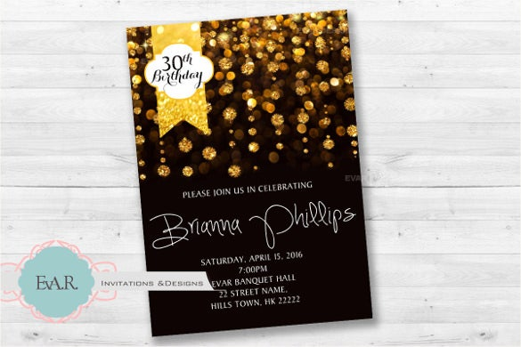 Adult Birthday Invitation Templates Free Sample Example - Digital birthday invitation template
