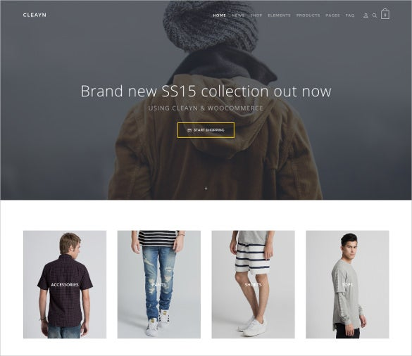 clean sleek woocommerce php template