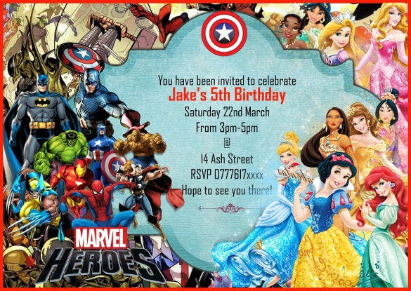 21+ SuperHero Birthday Invitations - PSD, Vector EPS, AI ...