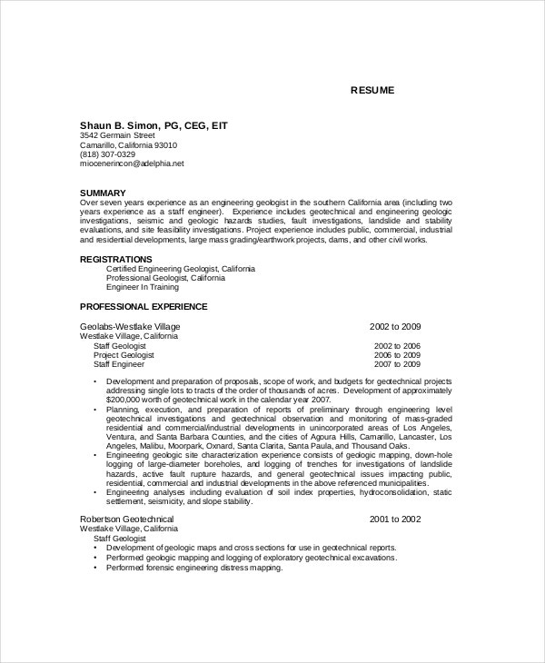 Engineering-Geologist-Resume