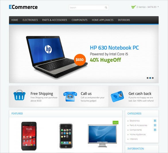 21 php ecommerce themes templates free premium for Php login templates free download