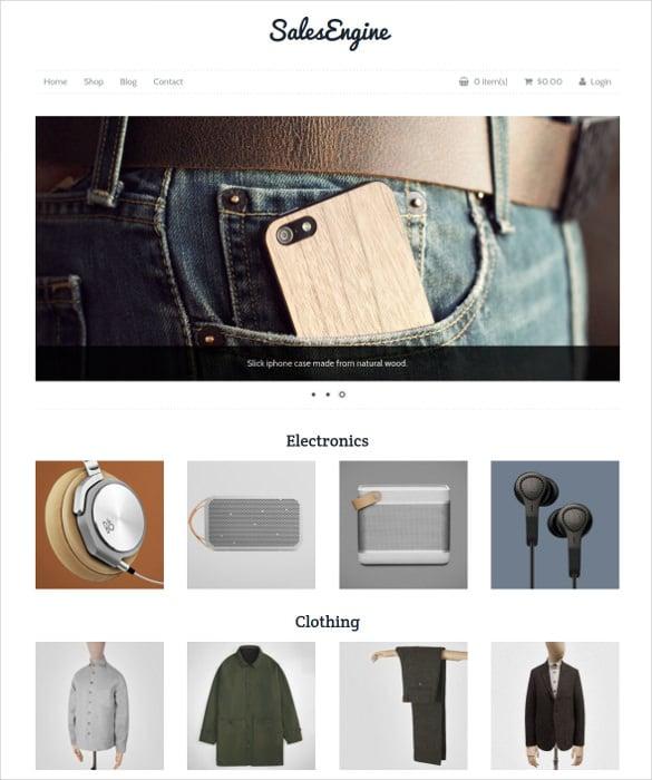 Ecommerce Online WordPress Php Theme