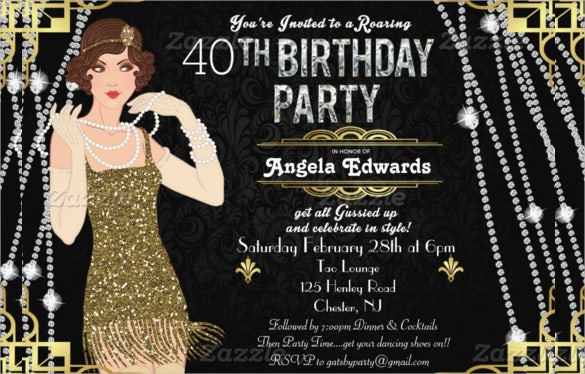 39 Adult Birthday Invitation Templates Free Sample Example