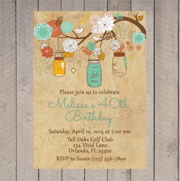 Vintage birthday invitations wblqual adult birthday invitation templates free sample example birthday invitations stopboris