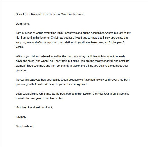 love letters for her christmas