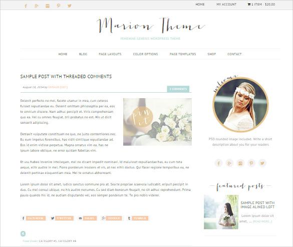 ecommerce feminine genesis wordpress theme