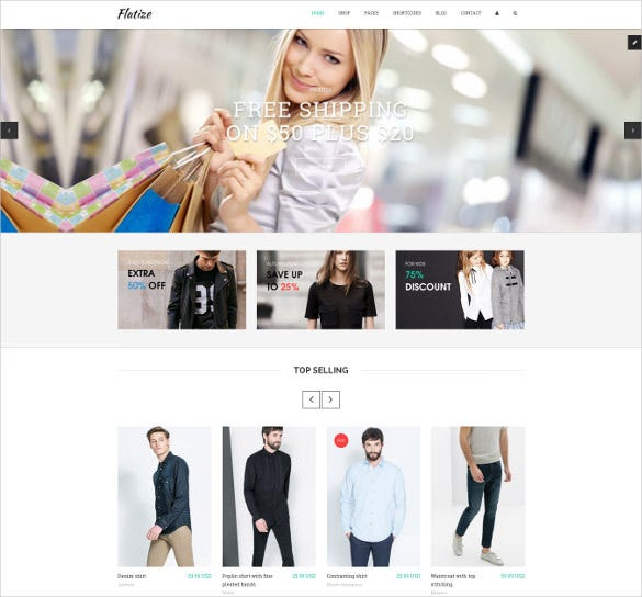 ecommerce store html template