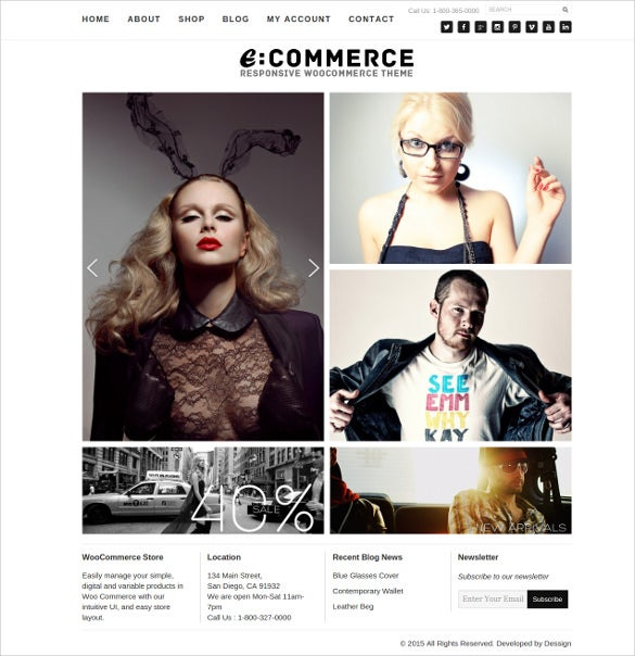 responsive ecommerce online store theme