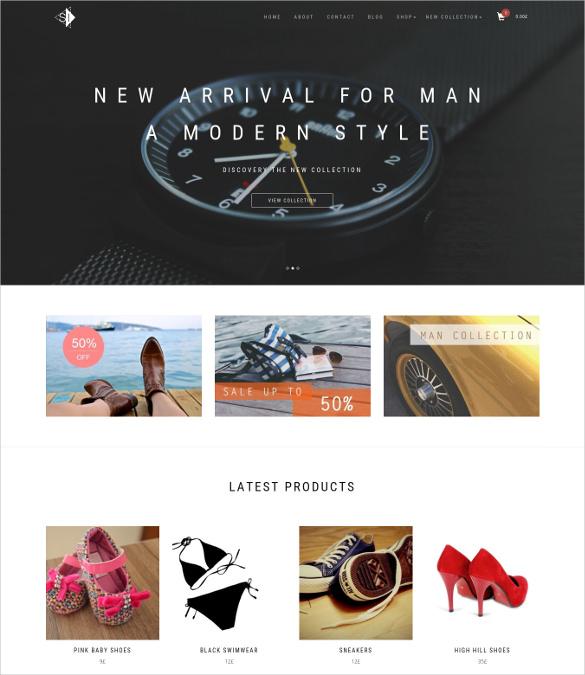 free ecommerce wordpress shopping theme