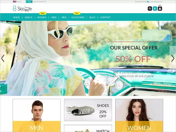free ecommerce online store wordpress template