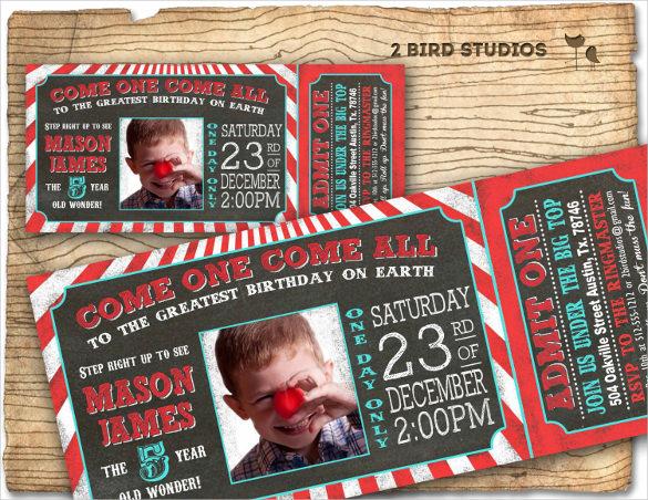 chalkboard style printable carnival bithday invitation
