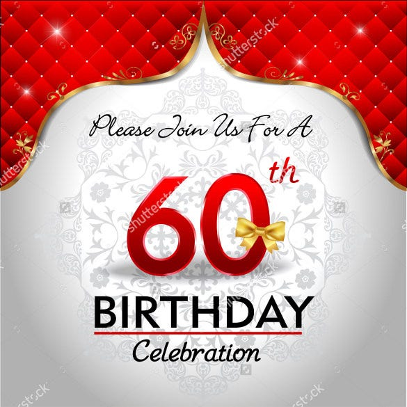 celebrating 60 years birthday golden red royal background1