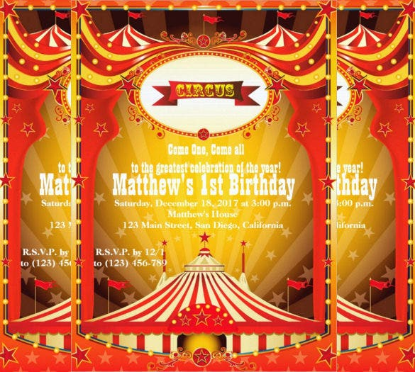 Carnival Birthday Invitation For Kids