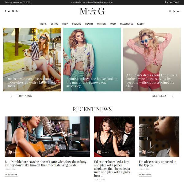 impressive wordpress online magazine template 59