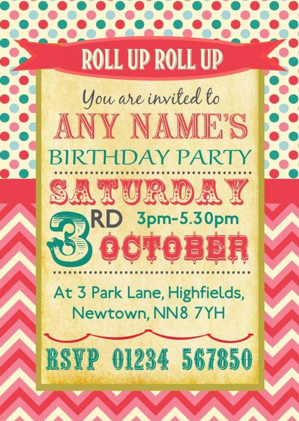 36+ Carnival Birthday Invitation Templates - Free Sample, Example ...