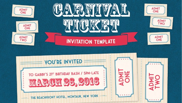 37 Carnival Birthday Invitation Templates Free Sample Example Format Download