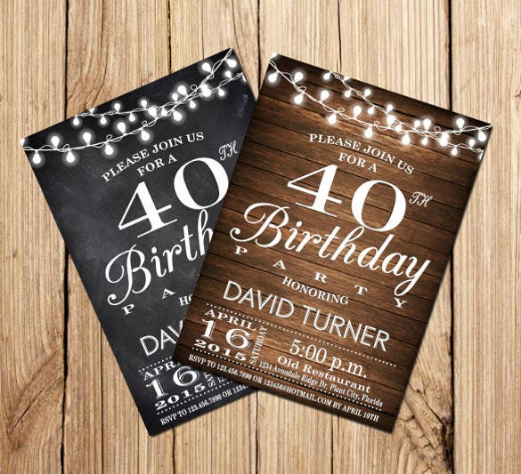 surprise 40th birthday invitation