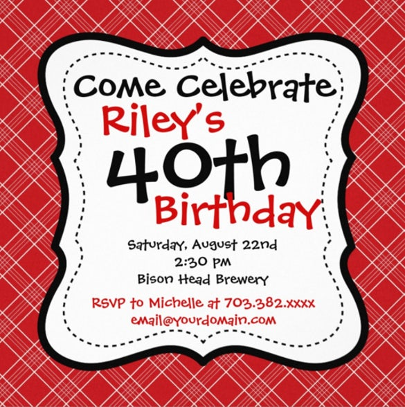 16  40th birthday invitations