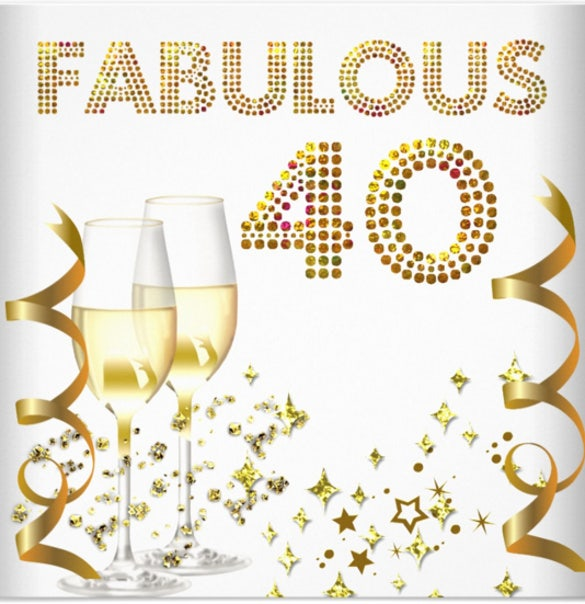 40 fabulous gold champagne 40th birthday party 1
