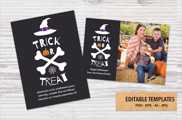 editable halloween birthday invitation templates