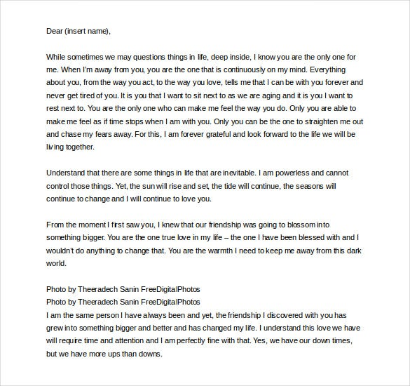 8+ Romantic Love Letter Templates – Free Sample, Example, Format