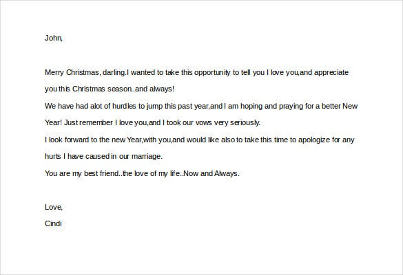 christmas love letter to my husband word document