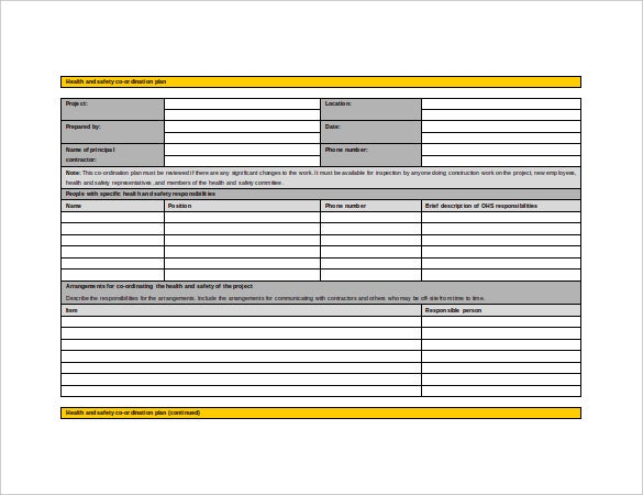 16 Health And Safety Plan Templates Free Sample Example Format