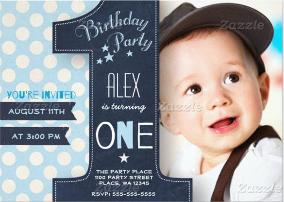 36  first birthday invitations