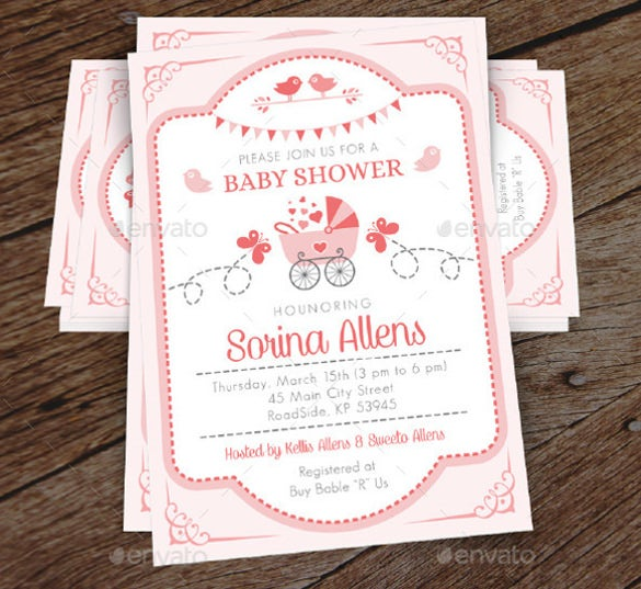 baby first shower invitation